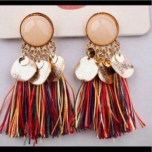 Bohemian Fringe Earrings Stunning Brand New